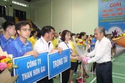TKV khai mạc vòng Chung kết giải cầu lông, bóng bàn phong trào 2021