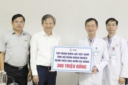 EVN hỗ trợ kinh phí cho bệnh nhân Bệnh viện Ung bướu Đà Nẵng