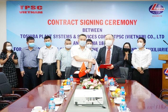 Ký hợp đồng lắp đặt thiết bị tua bin, máy phát dự án Nhiệt điện Vân Phong 1