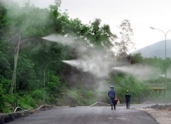 Than Cọc Sáu khánh thành công trình Hệ thống phun sương dập bụi