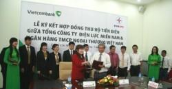 EVN SPC ký hợp đồng thu hộ tiền điện qua Vietcombank
