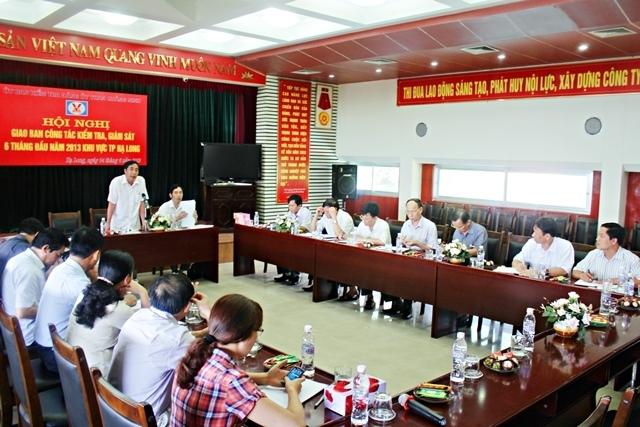 Đảng uỷ Than Quảng Ninh giao ban công tác kiểm tra, giám sát khu vực TP Hạ Long