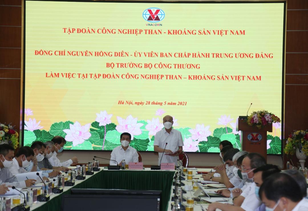Bộ trưởng Bộ Công Thương làm việc với TKV