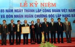 Công đoàn Điện lực Việt Nam đón nhận Huân chương Độc lập hạng Ba