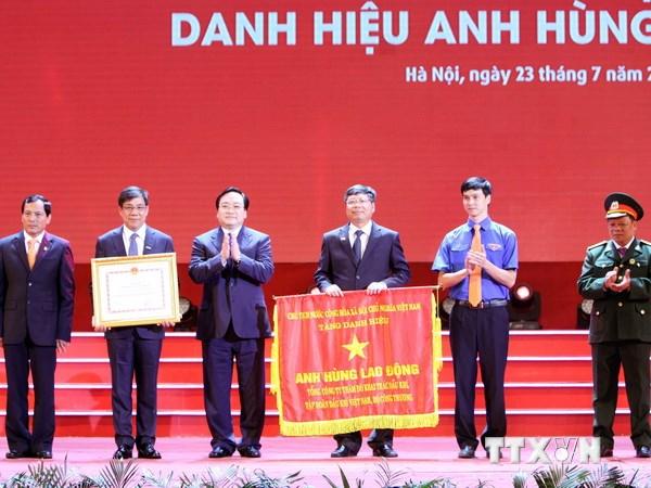 PVEP đón nhận danh hiệu Anh hùng Lao động