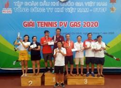 Gần 100 VĐV tham gia Giải Tennis thường niên PV GAS 2020