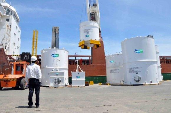 Doosan Vina xuất 68 tấn thiết bị  xử lý hóa chất đến Australia