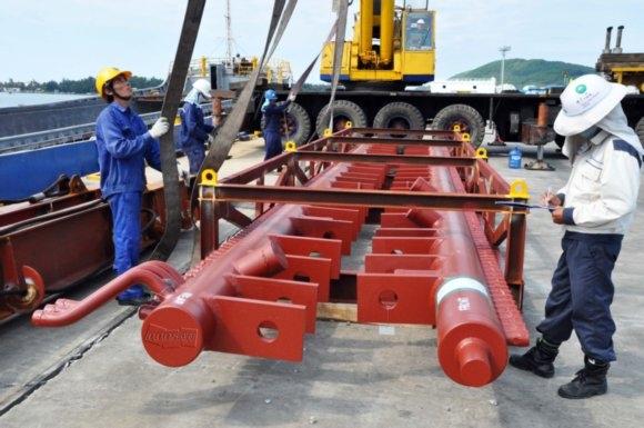 Doosan Vina xuất 624 tấn thiết bị nồi hơi cho Nhiệt điện Mông Dương II