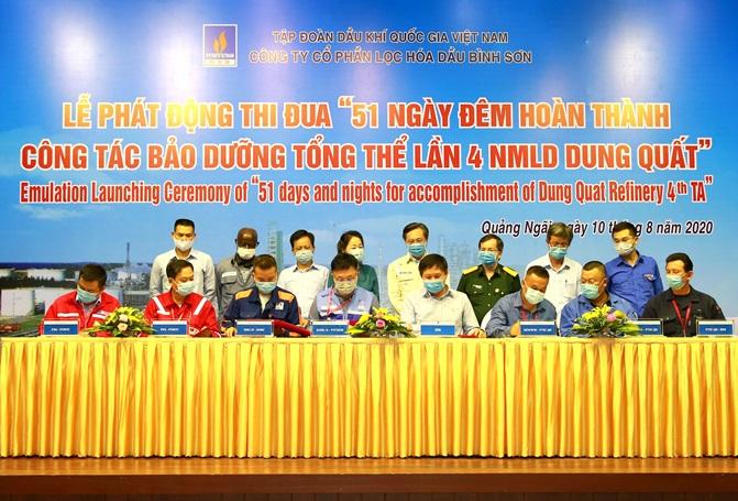 Phát động thi đua 51 ngày đêm hoàn thành bảo dưỡng NMLD Dung Quất