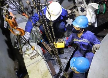 Vượt tiến độ sửa chữa lớn tổ máy H2 Thủy điện Sông Tranh 2