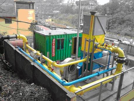 Trạm tháo khí mê-tan của Công ty than Khe Chàm đã được lắp đặt xong.