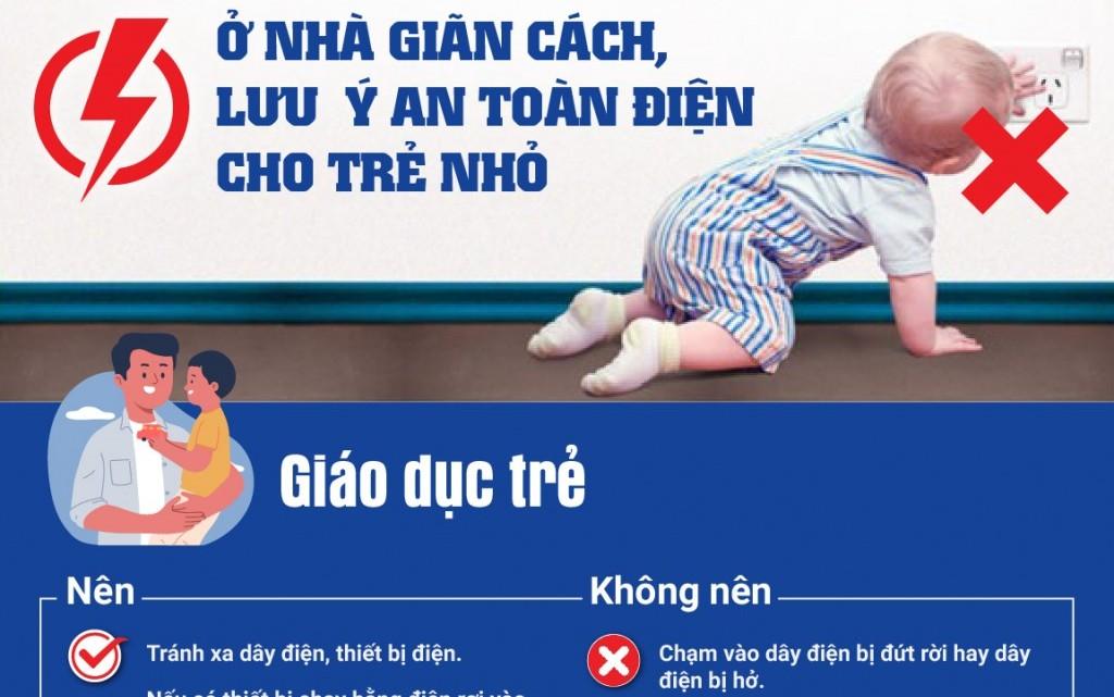 Khuyến cáo của EVN về an toàn điện cho trẻ nhỏ
