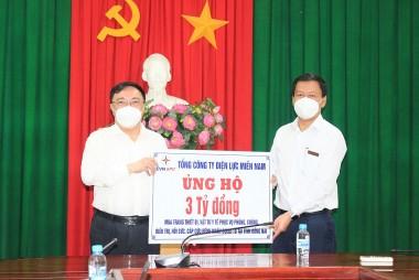 EVNSPC tiếp tục ủng hộ kinh phí cho các tỉnh phía Nam chống dịch Covid-19