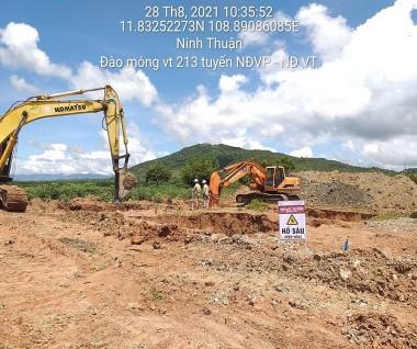Mặt bằng dự án đường dây 500 kV Vân Phong-Vĩnh Tân cần sớm được tháo gỡ