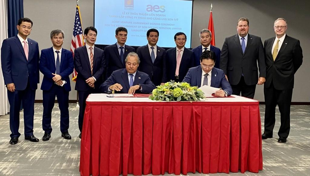PV GAS và AES ký thỏa thuận thành lập, vận hành Công ty Kho cảng LNG Sơn Mỹ
