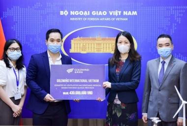 Goldwind hỗ trợ vật tư y tế cho Việt Nam chống dịch Covid-19