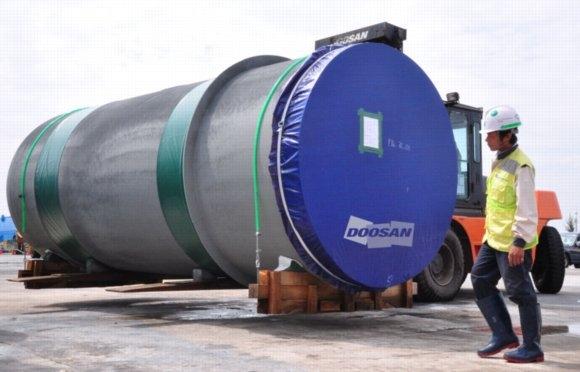 Doosan Vina xuất 350 tấn thiết bị tới Ả Rập Xê Út