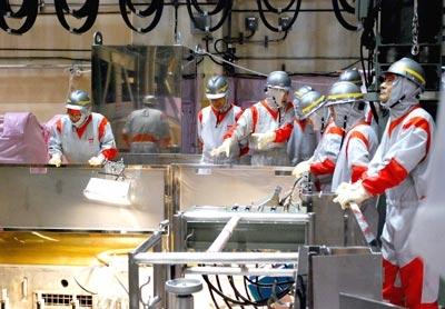 Lấy thành công mẫu nước nhiễm xạ của Nhà máy Fukushima 1