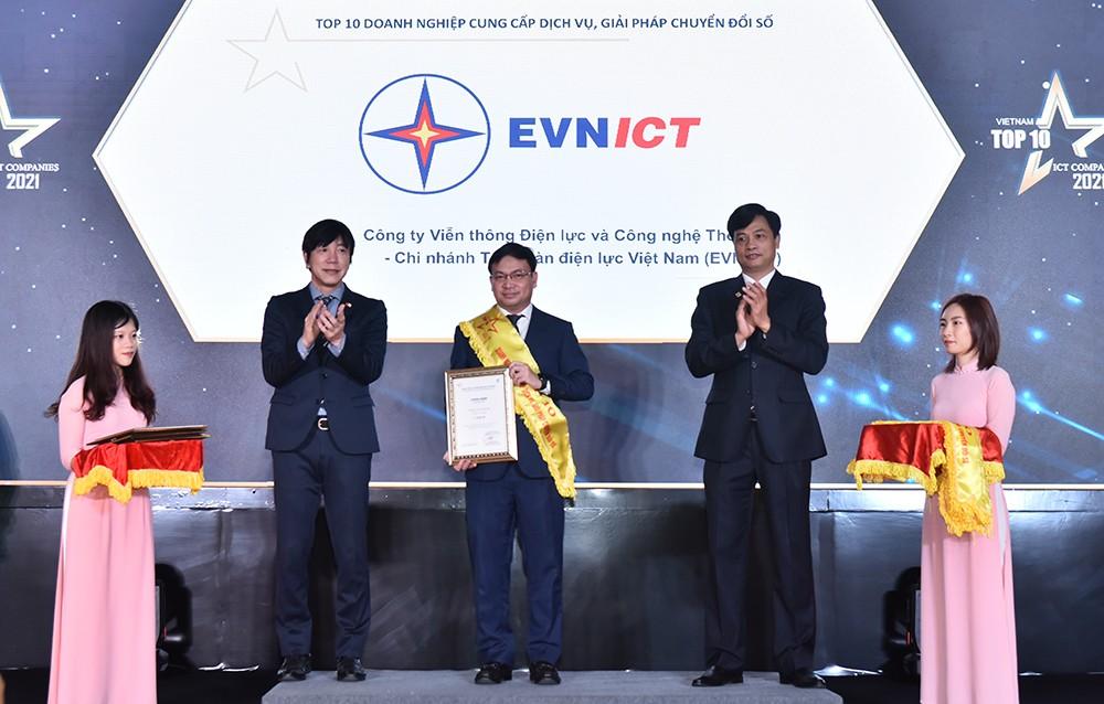 EVNICT trong Top 10 doanh nghiệp công nghệ thông tin Việt Nam 2021