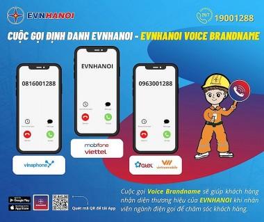 EVNHANOI sử dụng hệ thống định danh cuộc gọi để liên lạc với khách hàng
