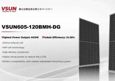 Ra mắt dòng pin năng lượng mặt trời VSUN605-120BMH-DG