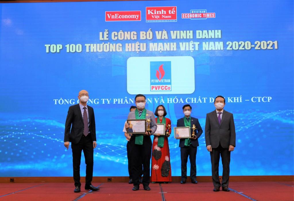 Đạm Phú Mỹ trong Top 100 Thương hiệu mạnh Việt Nam 2020 - 2021