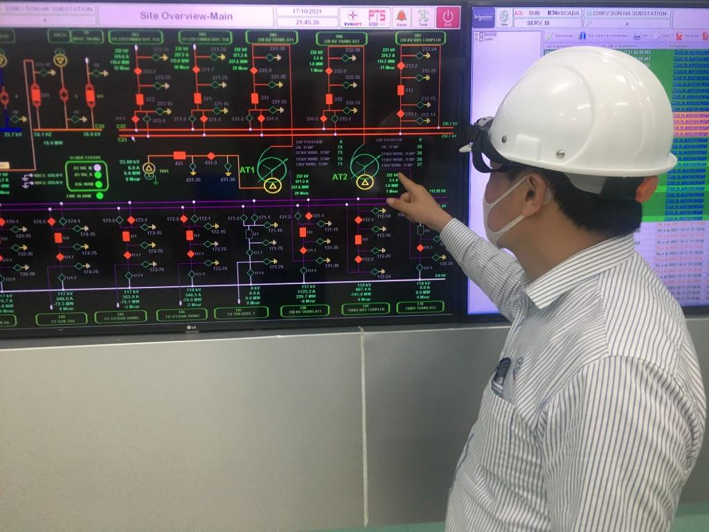 Hoàn thành dự án nâng công suất Trạm biến áp 220 kV Sơn Hà