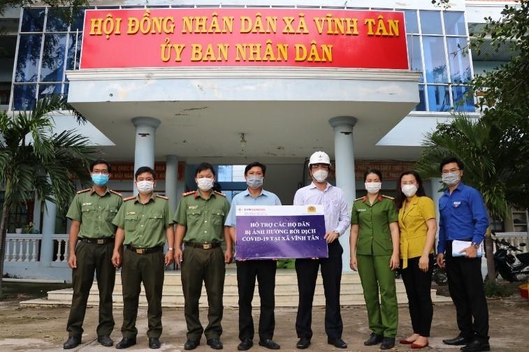 Nhiệt điện Vĩnh Tân tiếp tục hỗ trợ người dân ảnh hưởng bởi dịch Covid-19