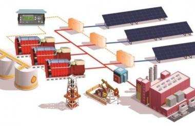 Hệ thống cung cấp năng lượng PV mặt trời và máy phát điện diesel