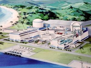 Mô hình một nhà máy điện hạt nhân ở Nhật Bản được giới thiệu tại một hội thảo của Việt Nam.