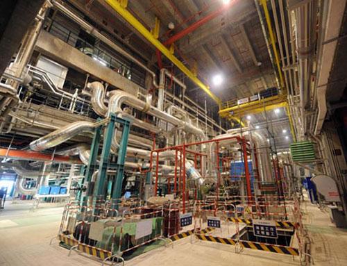 Hình ảnh tổ máy phát điện số 1 của nhà máy Hongyanhe ngày 19/2.