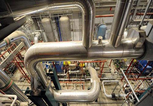 Hệ thống đường ống ở tổ hợp máy phát điện số 1.
