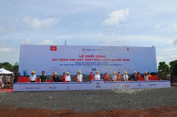 Khởi công dự án mở rộng Nhà máy Thủy điện Thác Mơ