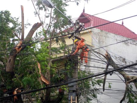 EVN khẩn trương khắc phục ảnh hưởng của bão số 2