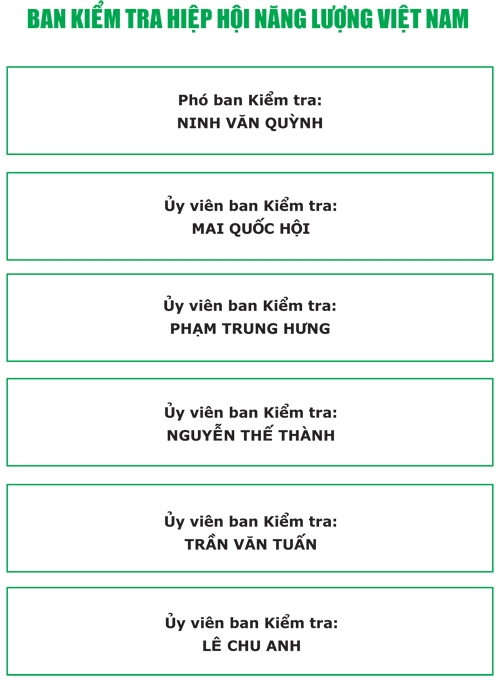 Thường trực BCH Hiệp hội Năng lượng Việt Nam