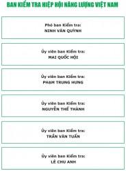 Ban kiểm tra - Hiệp hội Năng lượng Việt Nam